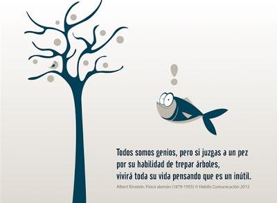 educacion-niño-genios-pez-arbole-escalar